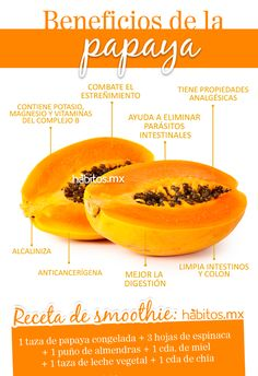 ¡Beneficios de la papaya!