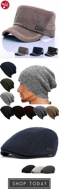 924a57709ef Winter Casual Cotton Knit Cap Baggy Beanie Crochet Cap Outdoor Ski Cap