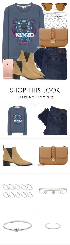 """Untitled #3352"" by hellomissapple ❤ liked on Polyvore featuring Kenzo, Levi's, Acne Studios, Valentino, ASOS, Cartier, Michael Kors and Ray-Ban"