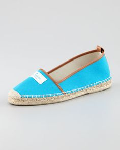 lara logo espadrille flat, turquoise by kate spade new york at Neiman Marcus.