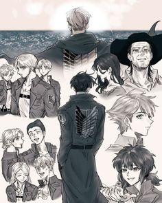 Levi X Petra, Levi And Erwin, Attack On Titan Season, Attack On Titan Anime, Erwin Attack On Titan, Levi Squad, Eruri, Armin, Levi Mikasa