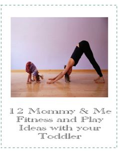 12 Mommy & Me Fitness and Play Ideas with Your Toddler. I've done yoga with my babies from the beginning. Toddler Yoga, Baby Yoga, Toddler Fun, Toddler Activities, Exercise With Toddler, Toddler Dance, Summer Activities, Fitness Workouts, Fitness Motivation
