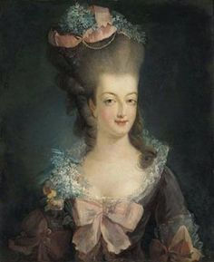 Marie Antoinette with a typical ottoman