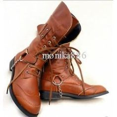 Free Shipping new Fashion Lace Up cowboy British Casual Male's Boots EU38-44