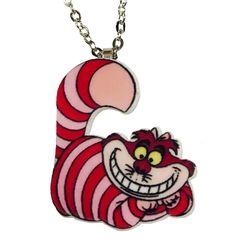 Alice in Wonderland. Cheshire Cat Necklace  Handmade in the U.K.  www.geekycool.co.uk
