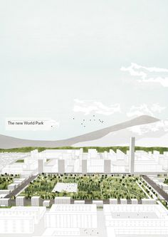 Tirana 2030: Watch How Nature and Urbanism Will Co-Exist in the Albanian Capital,A cluster of civic spaces, culminating in the World Park, will bring cultural events to the city. Image Courtesy of Attu Studio