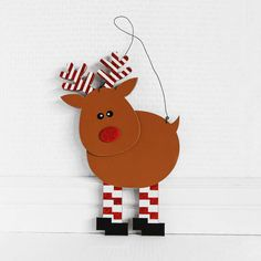 Browse our Wood Reindeer Wall Hanging, as well as other Seasonal Signs, Wall, Door Decor at Trendy Tree. Whimsical Christmas, Christmas Tag, Christmas Decorations, Christmas Ornaments, Christmas Stuff, Christmas Ideas, Wood Reindeer, Reindeer Ornaments, Wreath Supplies