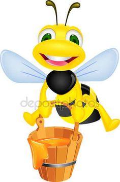Pszczoła z miodem