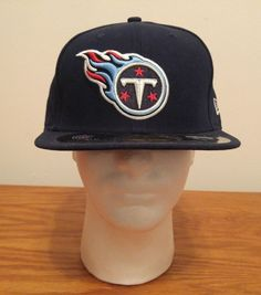 c8e53ceac80 Era 59fifty 5950 NFL Tennessee Titans Sideline on Field Fitted Hat Cap Navy  7 3 8