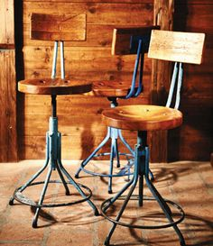 Vintage stools from the 1940s