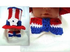 Patriotic Bow Tie 4th of July Crochet Pattern | FaveCrafts.com