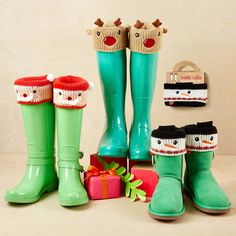 Christmas Animal Boot Cuffs