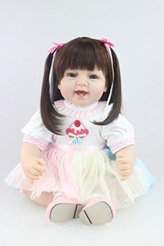 NPK collection 22 inch Reborn Baby Doll Vinyl Silicone 55 cm Babies Doll Lifelike express Toys Girl for Children Gift Fashion Princess Dress doll -- Learn more by visiting the image link.