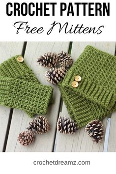 A crochet fingerless gloves pattern that works up in 2 hours or less. You will love the extended single crochet stitch used in the pattern. Crochet Fingerless Gloves Free Pattern, Crochet Mitts, Crochet Boot Cuffs, Crochet Baby Hats, Fingerless Mittens, Crochet Granny, Loom Knitting Patterns, Knitting Tutorials, Hat Patterns