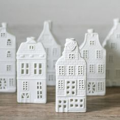 Porcelain Canal House Tea Lights, Six Designs by Bonnie and Bell, the perfect gift for Explore more unique gifts in our curated marketplace. Clay Houses, Ceramic Houses, Miniature Houses, Amsterdam Houses, Dutch House, Pottery Houses, Noel Christmas, Christmas Trends, Xmas