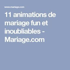 11 animations de mariage fun et inoubliables - Mariage.com