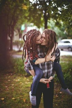 amazing dreads couple