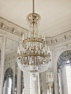 Versailles + Crystal Chandelier