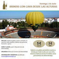 Brindis con #Cava desde las alturas. 7 de junio #Almendralejo #Badajoz #PrimaveraEnogastronómica 2015 #enoturismo #gastronomía #vinos #bodegas #cultura #naturaleza #ocio #Badajoz #Cáceres #Extremadura #escapadas #turismo #viajar