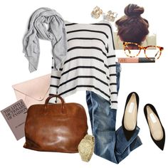 A fashion look from January 2014 featuring long sleeve shirts, blue jeans and jimmy choo shoes. Browse and shop related looks.