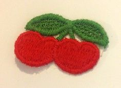 Vintage Red Cherry Applique Iron on