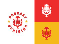 Podcast Uprising Logo designed by Gregory Grigoriou. Connect with them on Dribbble; the global community for designers and creative professionals. Thumbnail Design, Examples Of Logos, Sun Logo, Logo Design Inspiration, Design Ideas, Badge Logo, Cover Art, Podcast Ideas, Branding Design