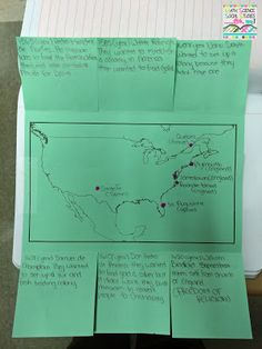 Foldable Friday: Early European Settlements in North America