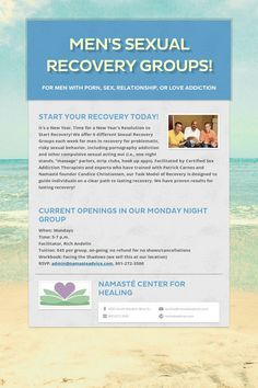 Help spread the word about Men's Sexual Recovery Groups!. Please share! :)