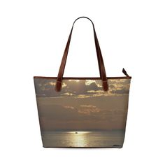 Awesome Sea Scene Shoulder Tote Bag (Model 1646)