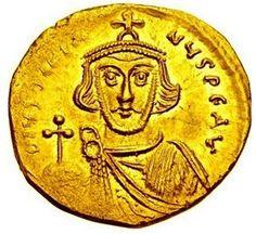 Justinian II AV Gold Solidus Byzantine Coin