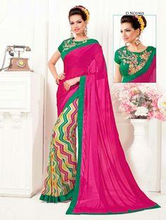 Pakistani Saree Indian Sari Bollywood Designer Partywear Wedding Dress Ethnic #KriyaCreation #SaptarangiSaree