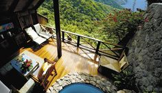 Bring the outside in...  Soufriere, St. Lucia...Ladera Resort