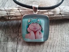 Custom photo pendant from Pretty Pretty Pendants!