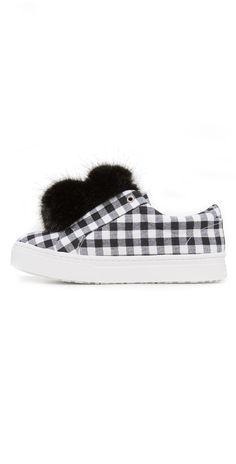 c914f2064d06 Sam Edelman Leya Gingham Sneakers