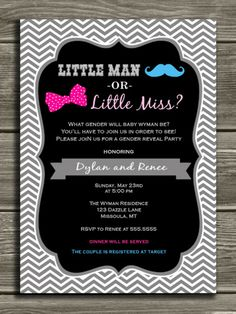 17 Best images about Gender Reveal Party Invitations | Invitations ...