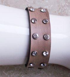 "Armband ""2-reihige Strassnieten"",antik-look,Handar von Bonitolino auf DaWanda.com"