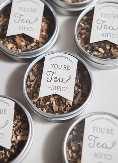 Tea lovers, it's your time to shine. These Tea-Riffic Wedding Favors are an excellent way to incorporate your favorite hot beverage into your wedding.