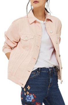 Topshop Ripped Elbow Denim Jacket (Petite)