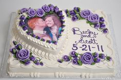 Bethel Bakery BR1- Stacked Heart Picture Cake. Serves 40.