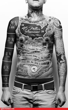 Insane tattoos infographic