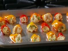 """Stuffed Baby Peppers .... one of my """"go to"""" favs when having guests over ... although I omit the peas ;)"""