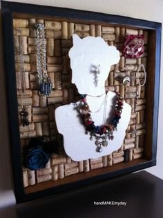 Andrea Made A Wine Cork Craft- HandMade / DiY Jewelry Holder by angi89, very cool