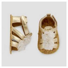 Baby Girls' Plume Sandal Gold NB - Just One You™ Made by Carter's® : Target
