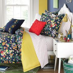 Teen Vogue Folksy Floral Comforter Set - The Dorm Room Shop on Joss & Main Floral Comforter, Comforter Sets, Cool Comforters, Teen Bedding, College Dorm Bedding, Teen Vogue, Boutique, My New Room, Bedding Collections