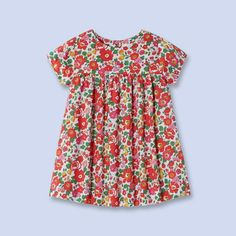 Flared floral Liberty print dress for little girls on sale at Jacadi: Perfect for Easter