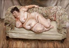 Lucian Freud - Benefits Supervisor Sleeping, 1995 (oil on canvas)