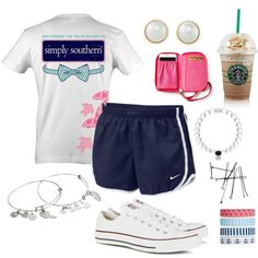 preppy outfit! by annanich4 on Polyvore featuring polyvore, fashion, style, Converse, Carolee, Alex and Ani, Lilly Pulitzer, Accessorize and NIKE