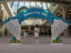Jawa Pos Beauty Fest Proposed Design for Jawa Pos Beauty Fest<br> School Exhibition, Exhibition Plan, Exhibition Booth Design, Exhibition Display, Entrance Design, Gate Design, Gate Decoration, Decorations, Pop Design