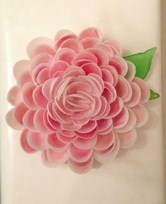 One of a Kind Seashell Flower Shadow Box Pink by SweetheartSeaArt