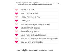 ... Valentine Fortune Cookies + Free Printable Fortune Cookie Messages